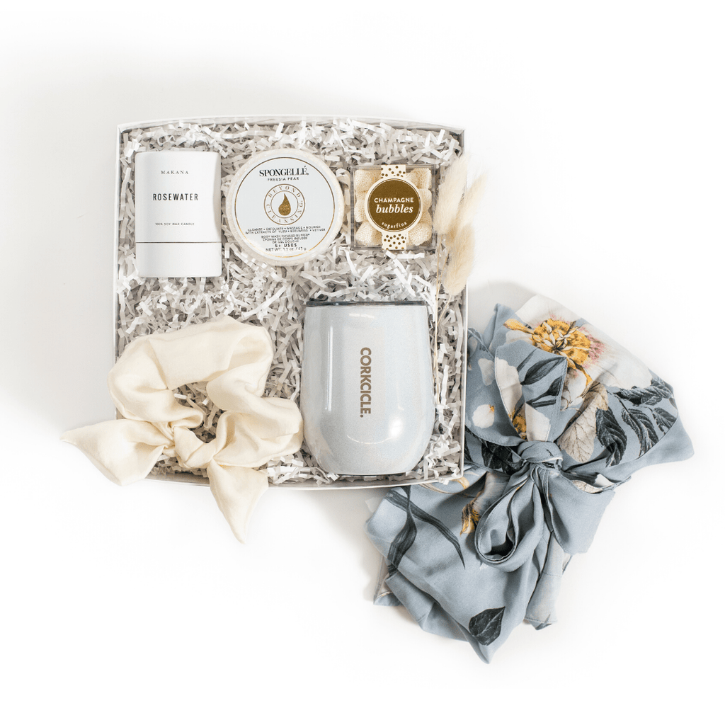 "Shop our signature something blue bridal box, ""Something Blue"" from Marigold & Grey."
