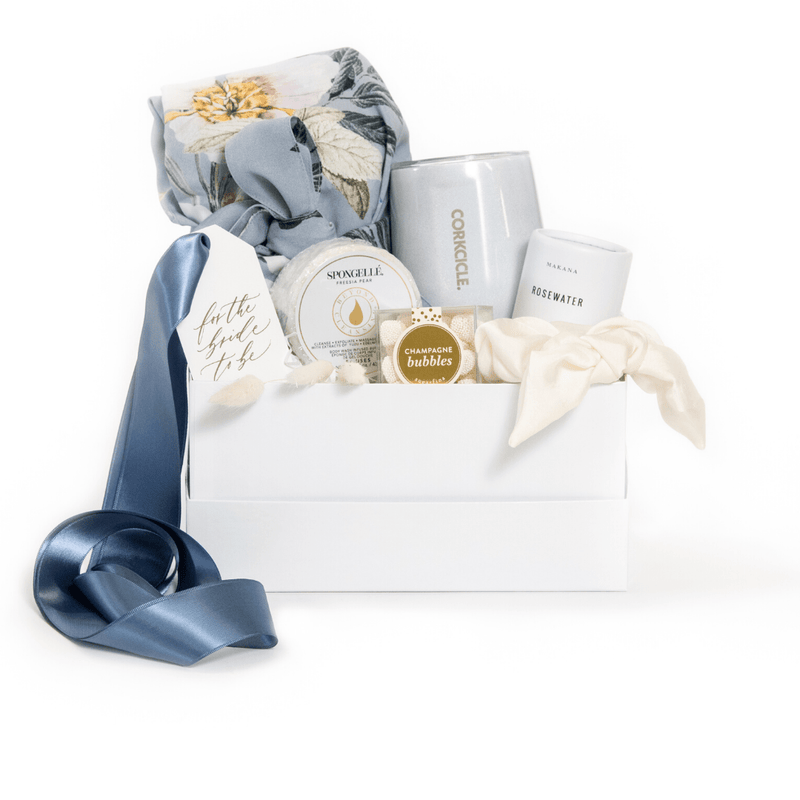 "Shop ""Something Blue"" the signature bridal gift box by Marigold & Grey."