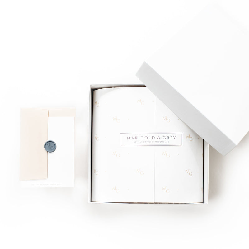 "Shop ""Will You Be My Bridesmaid,"" the signature bridesmaid gift box by Marigold & Grey."