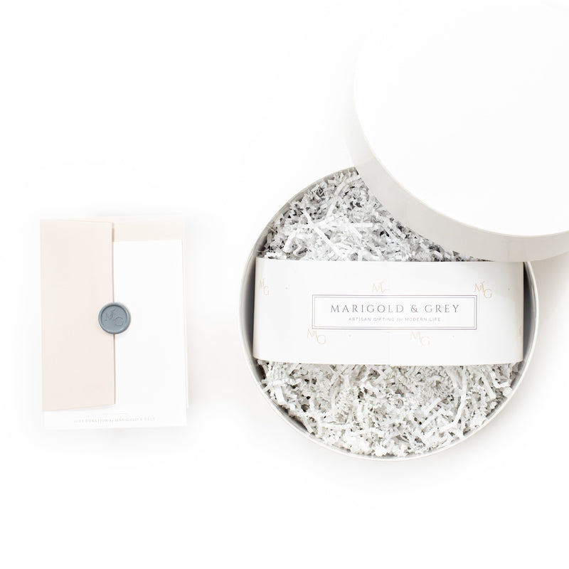 "Shop ""Pretty in Pink,"" the signature feminine gift box by Marigold & Grey."