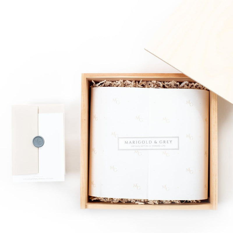 "Shop ""But First, Coffee"", the signature coffee gift box by Marigold & Grey. Our luxury coffee gifts include free U.S. Shipping and complimentary custom handwritten notecard!"