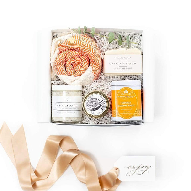 Curated gift box with citrus theme perfect for client gifting, thank you gifts, sympathy, thinking of you and hostess appreciation