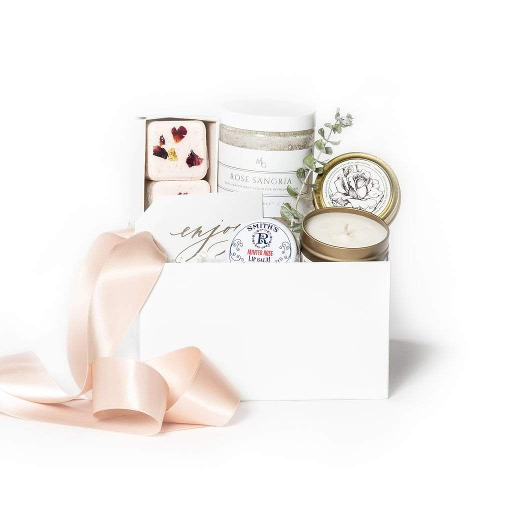 Spa themed curated gift box ideas by Marigold & Grey