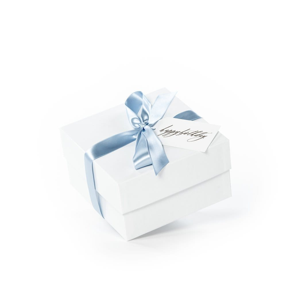 Gender neutral client birthday gift box ideas by Marigold & Grey