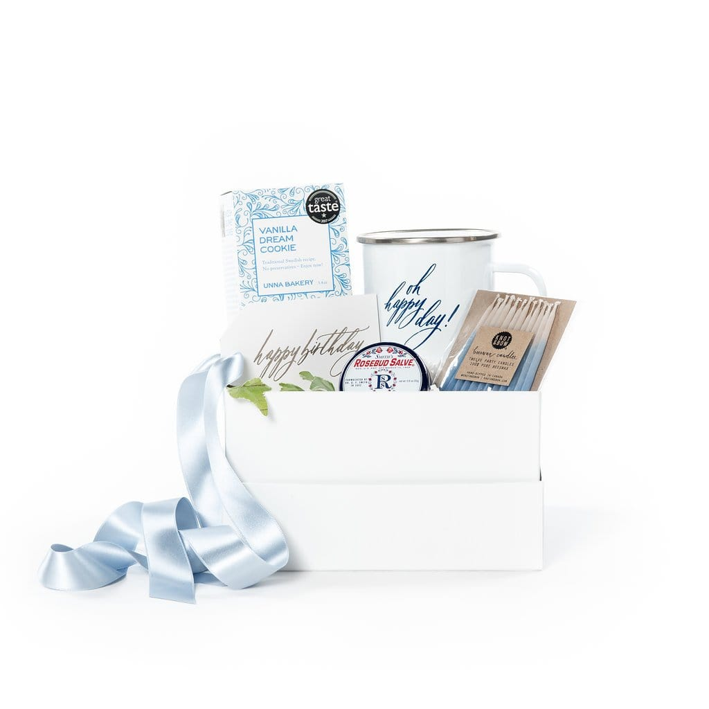 Unique happy birthday curated gift box ideas by Marigold & Grey