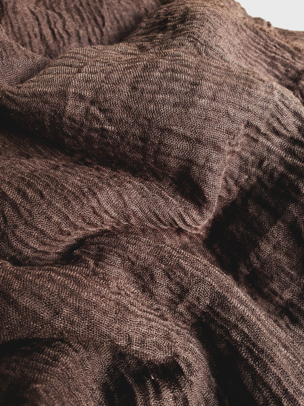 Soft Crinkle Darkbrown