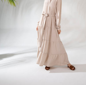 Rania Boho Dress Beige