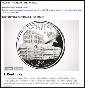 Kentucky State Quarter John Ward
