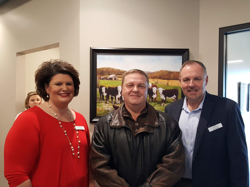 John's Art Decorates Peoples Bank of Kentucky's New Mt. Sterling Office