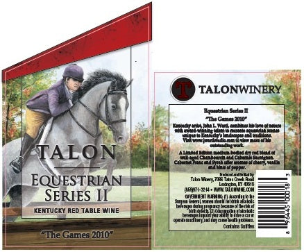 Talon Winery Uses John Ward's Image on Second Equestrian Series Wine Bottle