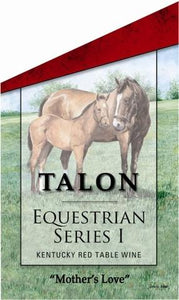 Mothers Love by John Ward Featured on Talon Winery's Equestrian Series Wine Bottle