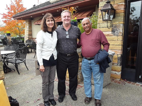 John Ward with Steve and Janet Ramlal