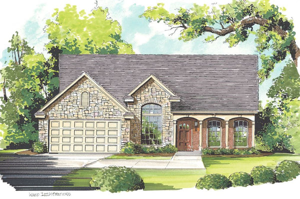 Color Architectural Home Rendering by John Ward