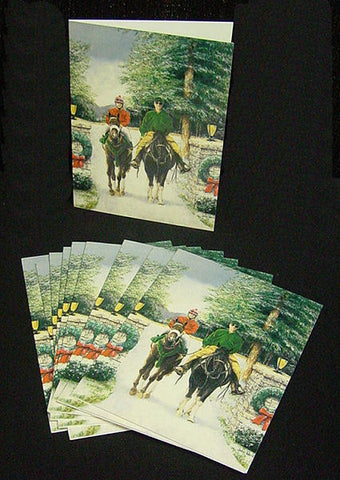 Holiday Horsemen note cards by John Ward www.jwardstudio.com