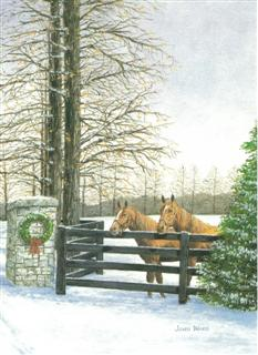 Holiday Horses note card by John Ward www.jwardstudio.com