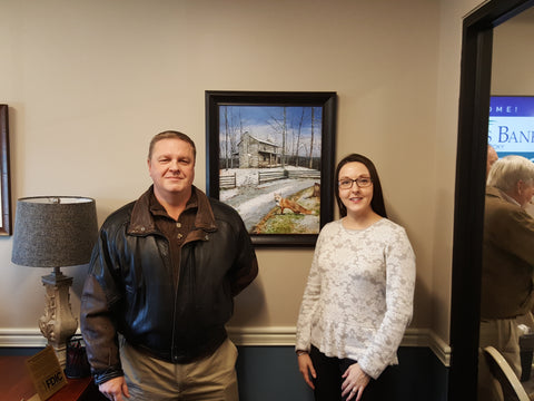 John Ward with daughter Courtney at Peoples Bank of Kentucky