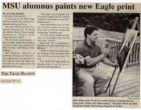 John Ward Paints Eagle Lake MSU Picture Trail Blazer