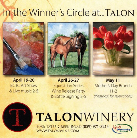 Talon Winery Equestrian Series Wine Release Featuring John Ward's Mothers Love