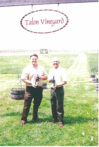 John Ward with Wine Maker Kerry Joliffe at Talon Winery