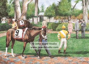 Ashland Stakes Race Ashland Oil Inc. Keeneland by John Ward www.jwardstudio.com horse racing paddock horse and jockey