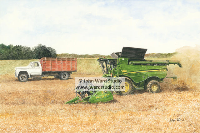 Bean Picker by John Ward www.jwardstudio.com John Deere Combine