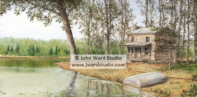 Cabin by the Lake by John Ward www.jwardstudio.com