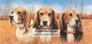 Champions by John Ward www.jwardstudio.com beagle dog hunting