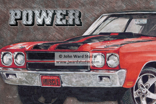 Chevelle Power by John Ward www.jwardstudio.com car vintage sports car classic