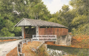 Colville Covered Bridge by John Ward www.jwardstudio.com Bourbon County Kentucky