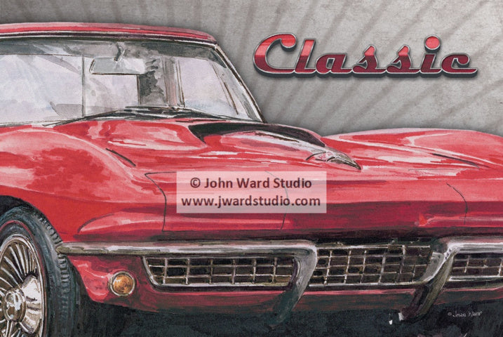 Classic Corvette by John Ward www.jwardstudio.com car vintage sports car