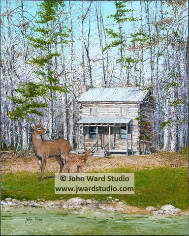 Feltner Tradition by John Ward www.jwardstudio.com Kentucky 4-H deer cabin lake spring