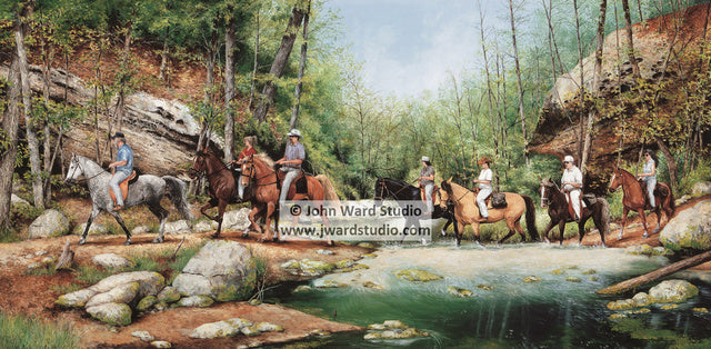 Gladie Creek Crossing Mountain Pleasure Horse Association John Ward www.jwardstudio.com horse riding creek