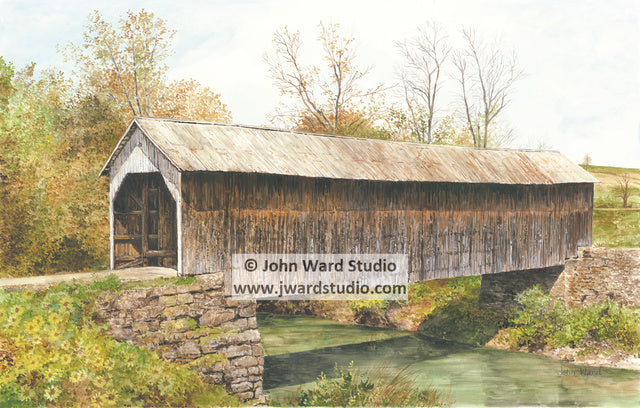 Grange City Covered Bridge by John Ward www.jwardstudio.com Flemingsburg Kentucky Hillsboro Fleming County
