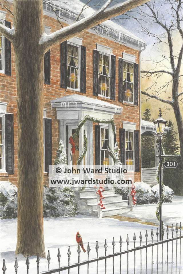 Home for the Holidays by John Ward www.jwardstudio.com Christmas snow home