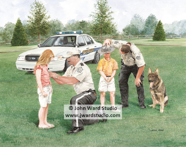 Kentucky Sheriffs Association by John Ward www.jwardstudio.com police car deputy dog german shepherd