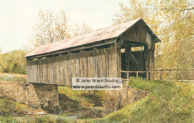 Ringos Mill Covered Bridge by John Ward www.jwardstudio.com