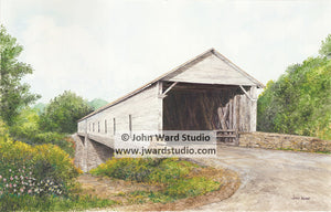 Sherburne Covered Bridge by John Ward www.jwardstudio.com Fleming County Kentucky