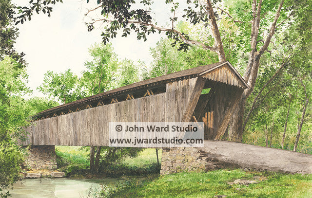 Switzer Covered Bridge by John Ward www.jwardstudio.com Franklin County Kentucky