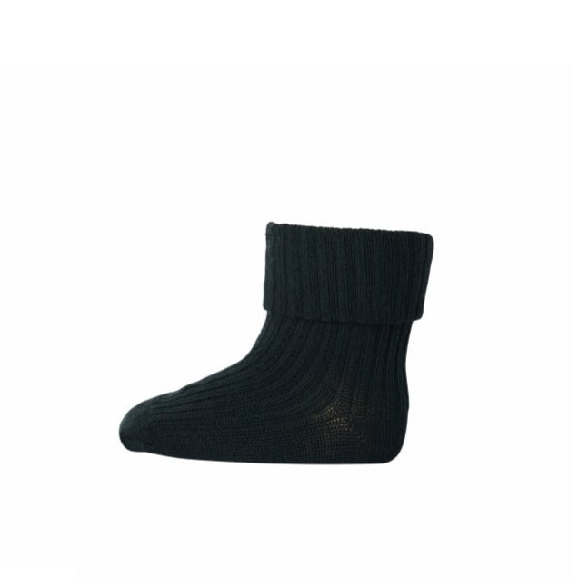 MP Denmark Ribbed Wool Ankle Socks - Forest Green