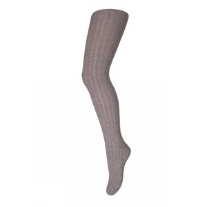 MP Denmark Classic Cotton Ribbed Tights Latte