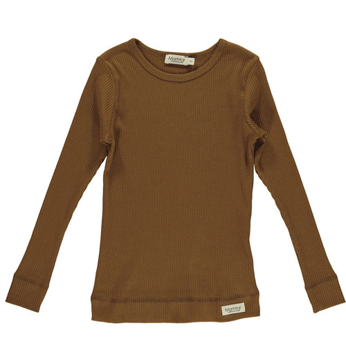 MarMar Copenhagen Mar Mar Long Sleeve Simple Tee Shirt - Leather