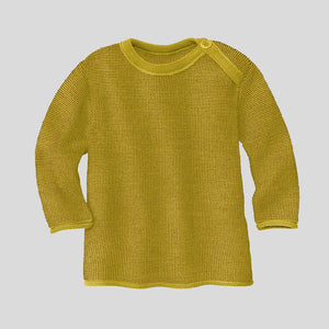 Disana Organic Merino Baby Melange Jumper - Curry/Gold