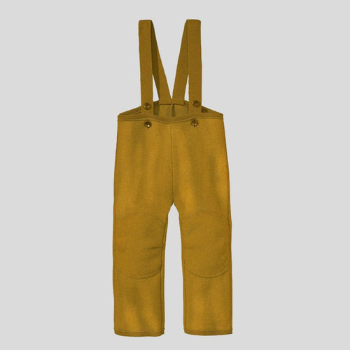 Disana Organic Boiled Wool Dungaree Trousers - Gold
