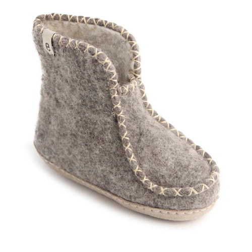 Egos Childs Boot Slipper - Grey (Sizes 22-29)