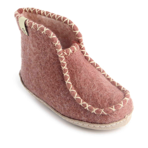 Egos Childs Boot Slipper - Dusty Rose (Sizes 22-29)