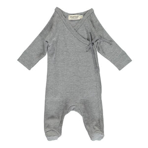 MarMar Copenhagen Mar Mar Rubetta Long Sleeve Wrap Bodysuit Modal/Cotton - Grey