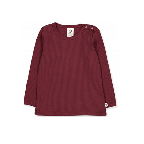 Müsli by Green Cotton Organic Cosy Rib Tee - Truffle