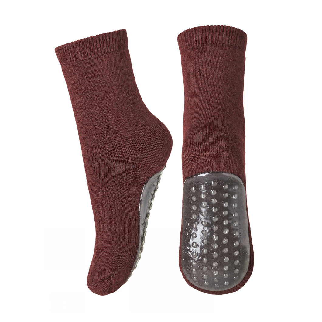 MP Denmark Merino Wool Slipper Socks - Burgundy