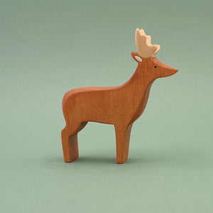 Brin d'Ours handmade in France wooden Stag