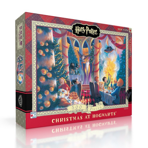 New York Puzzle Company Christmas at Hogwarts - 500 Piece Puzzle - Harry Potter